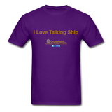 I Love Talking Ship - Men's T-Shirt - purple