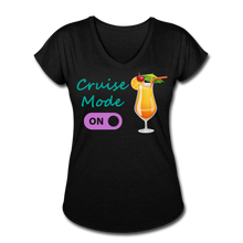 Load image into Gallery viewer, Cruise Mode 'On' - Tropical Cruise Women's V-Neck Shirt-CruiseHabit