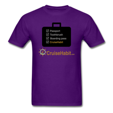 Load image into Gallery viewer, Cruise Checklist Shirt (Men's) - purple