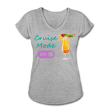 Cruise Mode 'On' - Tropical Cruise Women's V-Neck Shirt-CruiseHabit