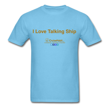 Load image into Gallery viewer, I Love Talking Ship - Men's T-Shirt - aquatic blue