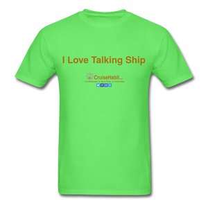 I Love Talking Ship - Men's T-Shirt - kiwi