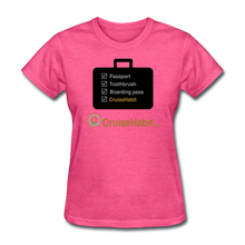 Load image into Gallery viewer, Cruise Checklist Shirt (Women's) - heather pink