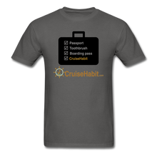 Load image into Gallery viewer, Cruise Checklist Shirt (Men's) - charcoal