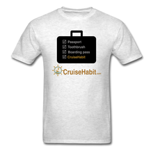 Load image into Gallery viewer, Cruise Checklist Shirt (Men's) - light heather grey