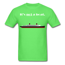 "Load image into Gallery viewer, ""It's Not a Boat"" (Ocean Liner Design - Men's T-Shirt-CruiseHabit"