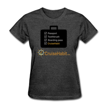 Load image into Gallery viewer, Cruise Checklist Shirt (Women's) - heather black