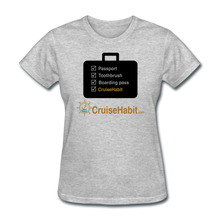 Load image into Gallery viewer, Cruise Checklist Shirt (Women's) - heather gray