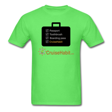 Load image into Gallery viewer, Cruise Checklist Shirt (Men's) - kiwi