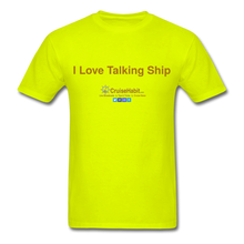 Load image into Gallery viewer, I Love Talking Ship - Men's T-Shirt - safety green