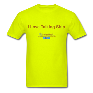 I Love Talking Ship - Men's T-Shirt - safety green
