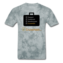 Load image into Gallery viewer, Cruise Checklist Shirt (Men's) - grey tie dye