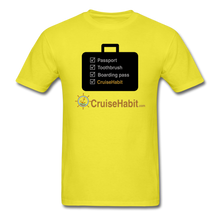 Load image into Gallery viewer, Cruise Checklist Shirt (Men's) - yellow