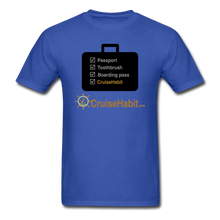 Load image into Gallery viewer, Cruise Checklist Shirt (Men's) - royal blue
