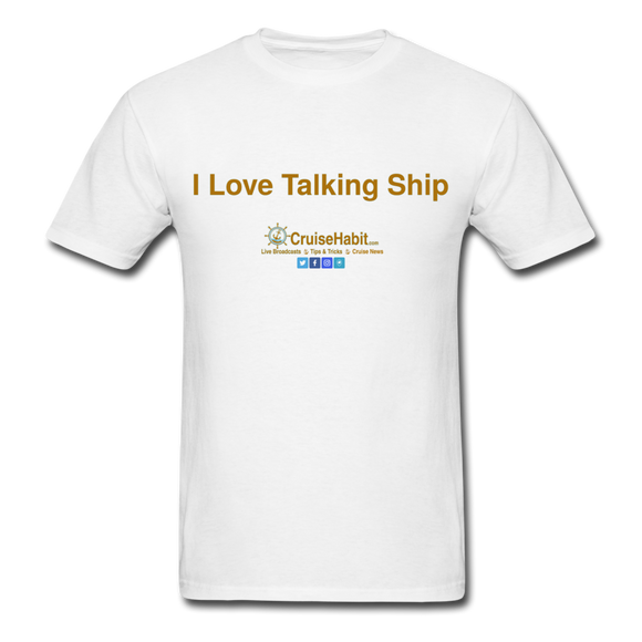I Love Talking Ship - Men's T-Shirt - white