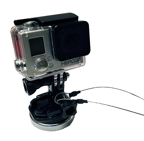 GoPro Magnet Ship Mount w/ Safety Tether - Attach your GoPro to the ship