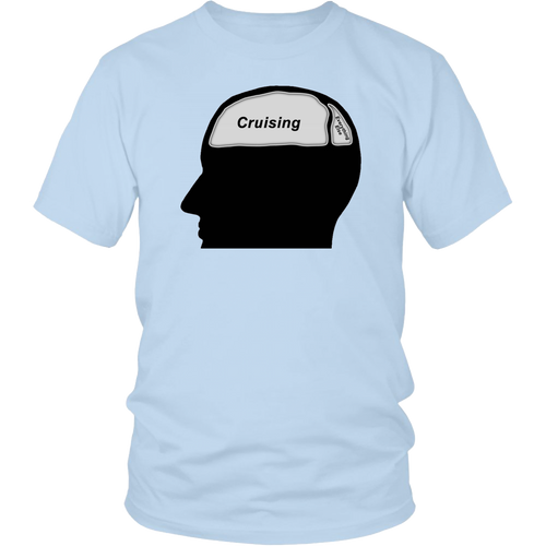 Cruising on the Brain - Men's T-Shirt-CruiseHabit