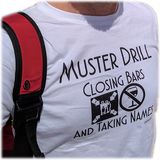 Muster Drill Cruise Shirt - (Black Print - Various Styles) - CruisieHabit Cruise Accessories & Gear
