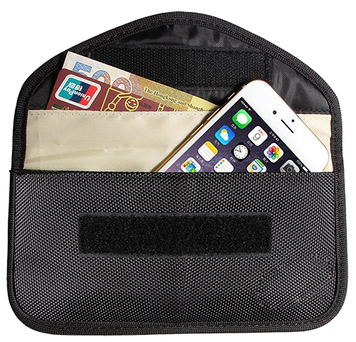 RF/RFID Blocking Phone Pouch Wallet
