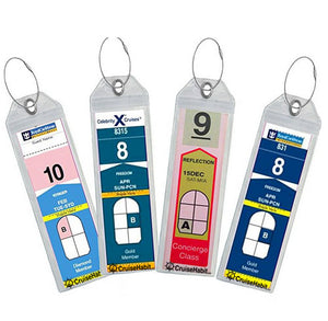 Luggage Tag Holders - Holds Tags for Royal Caribbean, Celebrity - Pack of 10