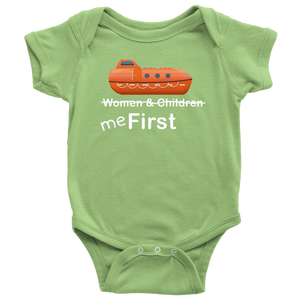 "To The Lifeboats! - ""Me First"" Infant Onesie or Shirt-CruiseHabit"
