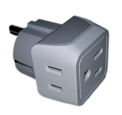 2 to 1 Power Adapter - Gain two additional power outlets in your stateroom-CruiseHabit