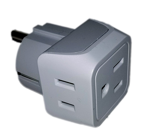 2 to 1 Power Adapter - Gain two additional power outlets in your stateroom