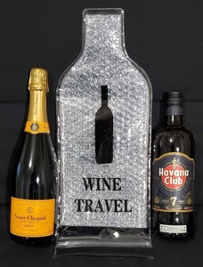 Wine Carrier - Safely Pack Wine or other Bottles in Suitcases or Bags - 2 Pack