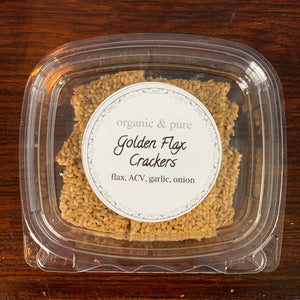 Golden Flax Crackers