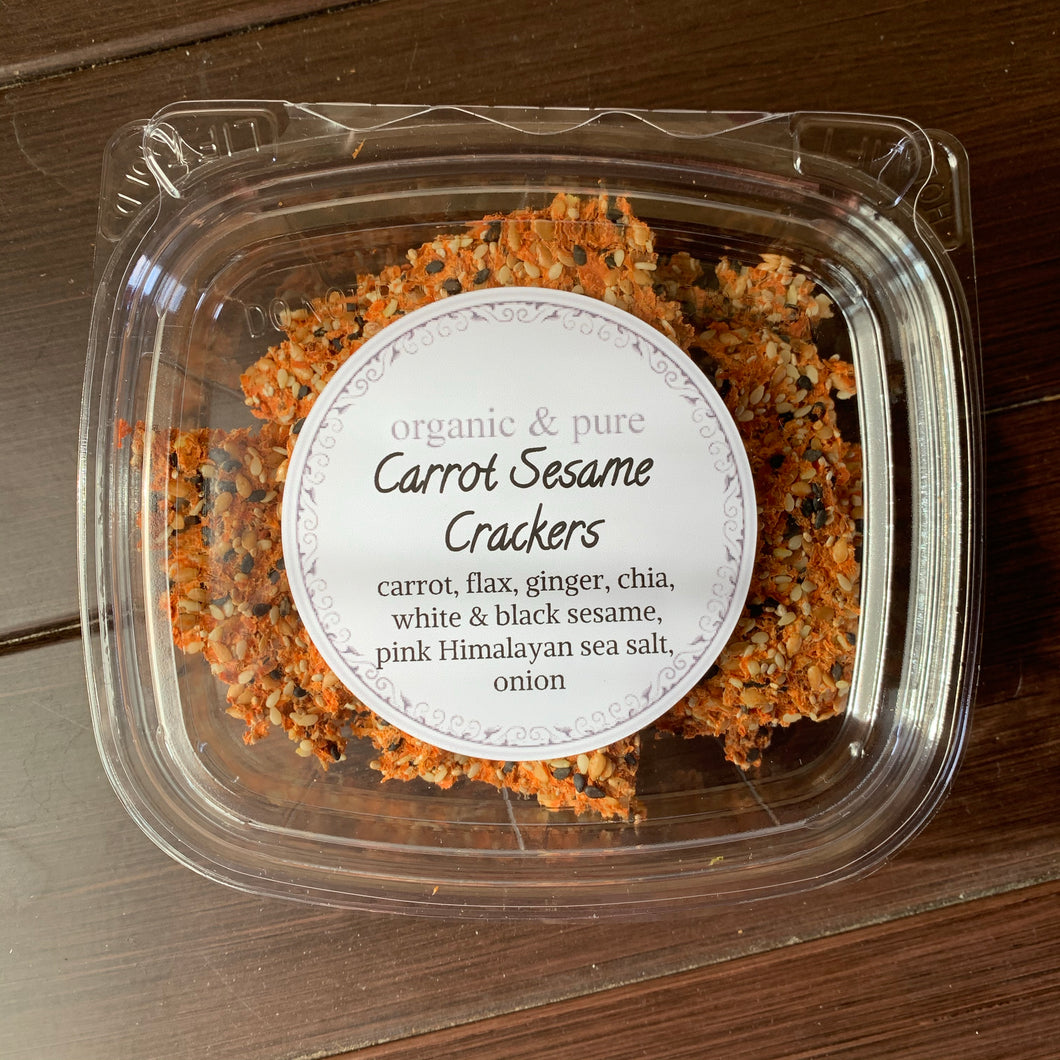 Carrot Sesame Crackers