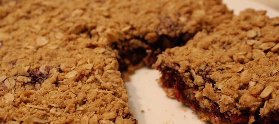 Multi-Purpose Raspberry Jam Oatmeal Bars