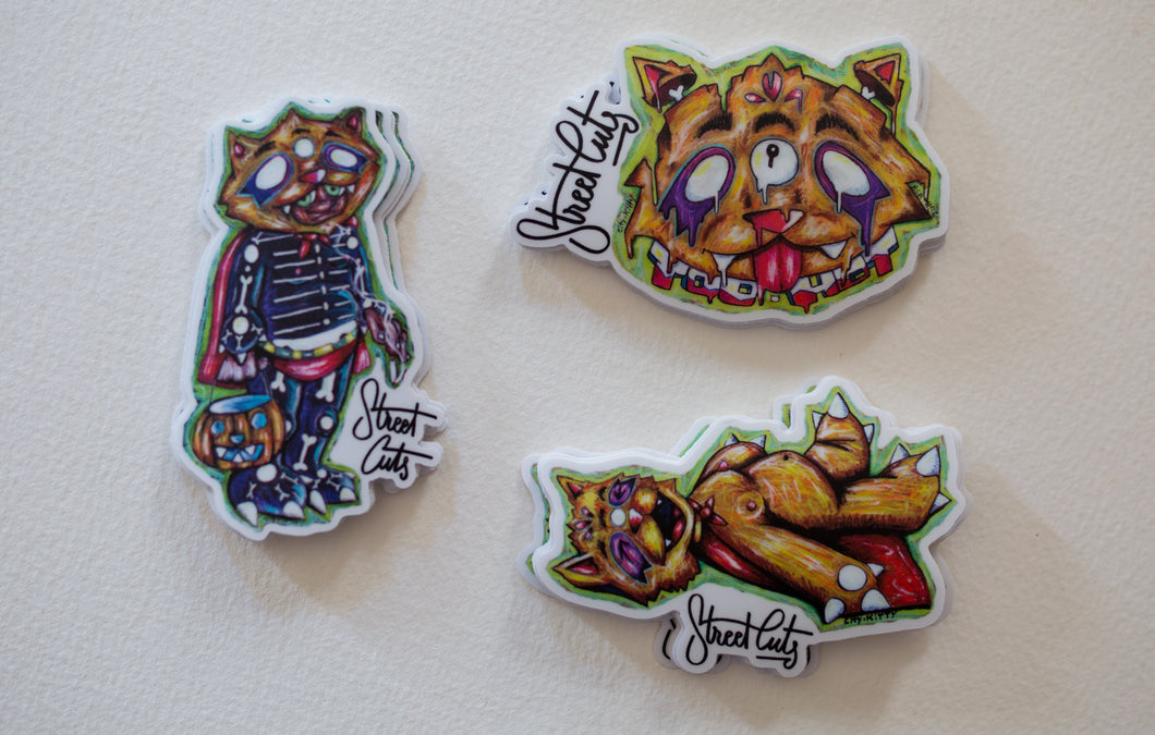 CITY KITTY:  Real Sticker Double 3 Pack #1
