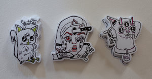 HISS:  Real Sticker Double 3 Pack #1