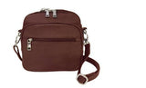 Roma 7023 Leathers Square Bag - Locking Concealed Carry Purse