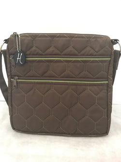 HidingHilda 3 Zip Messenger - Brown & Green