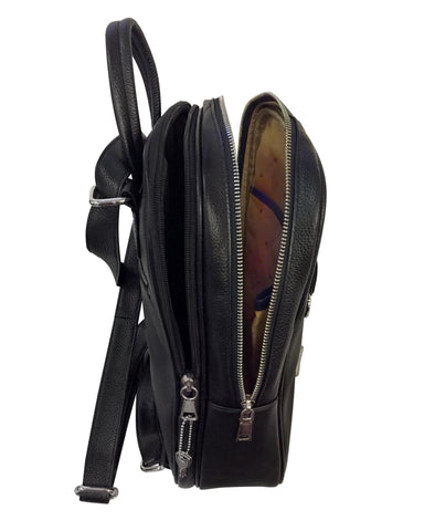 Roma 7098 Leather Backpack - Locking Concealed Carry Purse