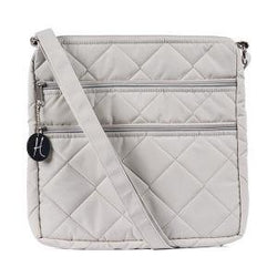 HidingHilda 3 Zip Messenger - Light Gray