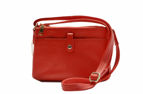 Roma 7046 Leather Shoulder Clutch - Locking Concealed Carry Purse