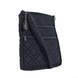 HidingHilda 3 Zip Messenger - Black