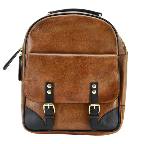 Cameleon Hephaestus Structured Backpack Leather Concealed Carry Handbag