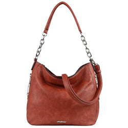Lady Conceal Ashley Hobo Chain Tote Concealed Carry Purse