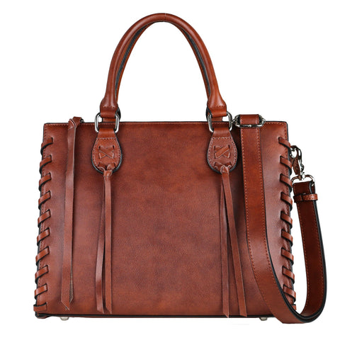 Lady Conceal Emma Leather Concealed Carry Satchel