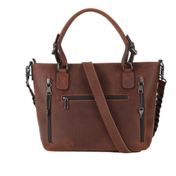 Lady Conceal Bailey Distressed Leather Concealed Carry Satchel