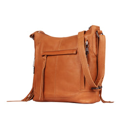 Lady Conceal Blake Scooped Leather Crossbody Concealed Carry Handbag