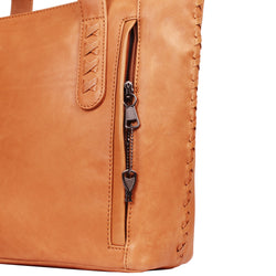 Lady Conceal Reagan Laced Leather Concealed Carry Tote