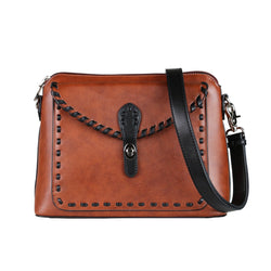 Lady Conceal Evelyn Leather Crossbody Concealed Carry Organizer