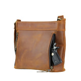 Lady Conceal Delaney Leather Concealed Carry Tote