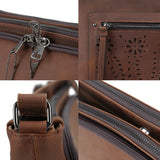 Lady Conceal Brynlee Distressed Leather Crossbody Concealed Carry Handbag