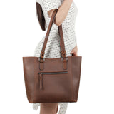 Lady Conceal Maddie Distressed Leather Concealed Carry Tote