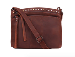 Lady Conceal Brynn Arched Leather Concealed Carry Crossbody